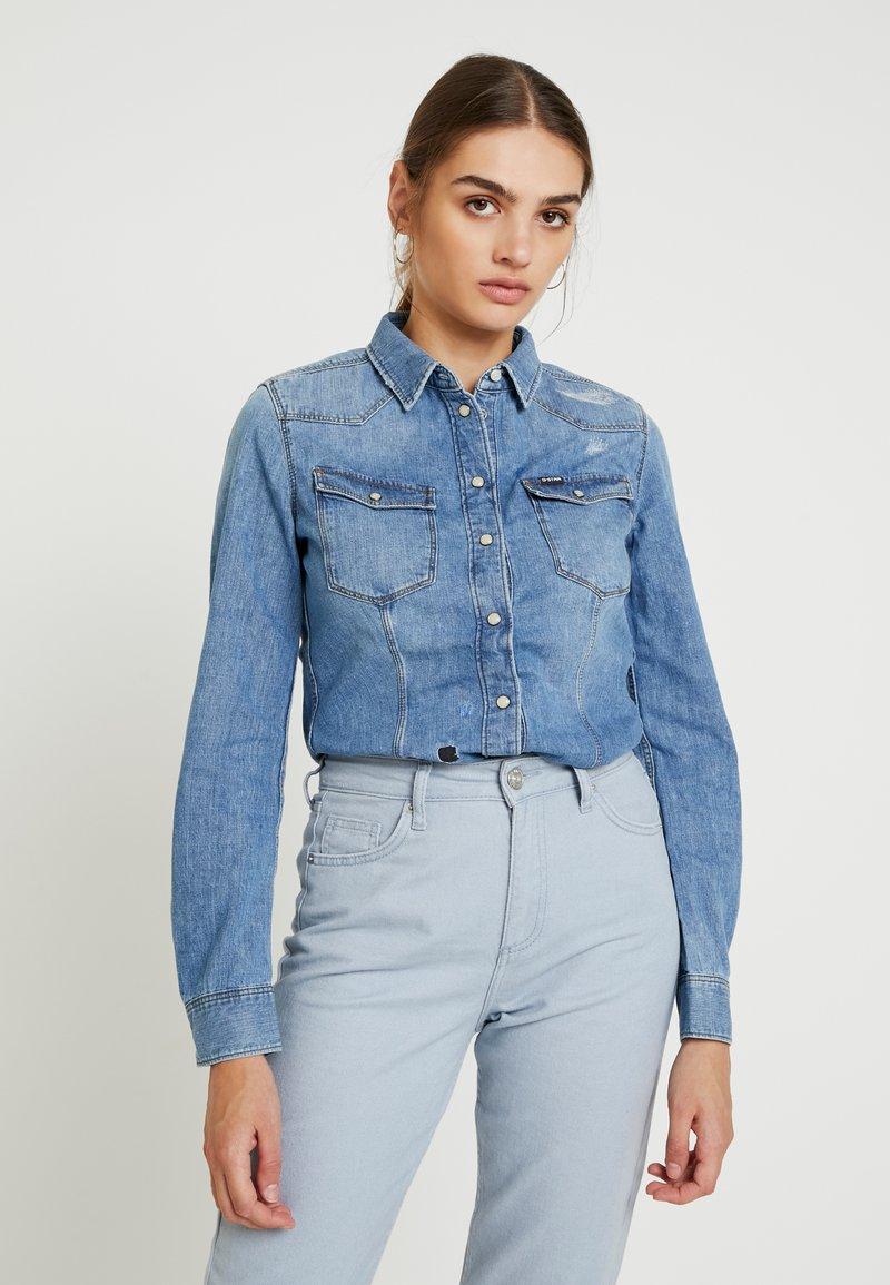 G-Star - 3301 SHIRT WMN L\S - Button-down blouse - medium aged restored 138