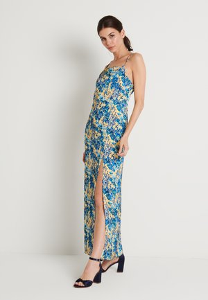 HIGH SLIT DRESS - Maxi dress - branches yellow