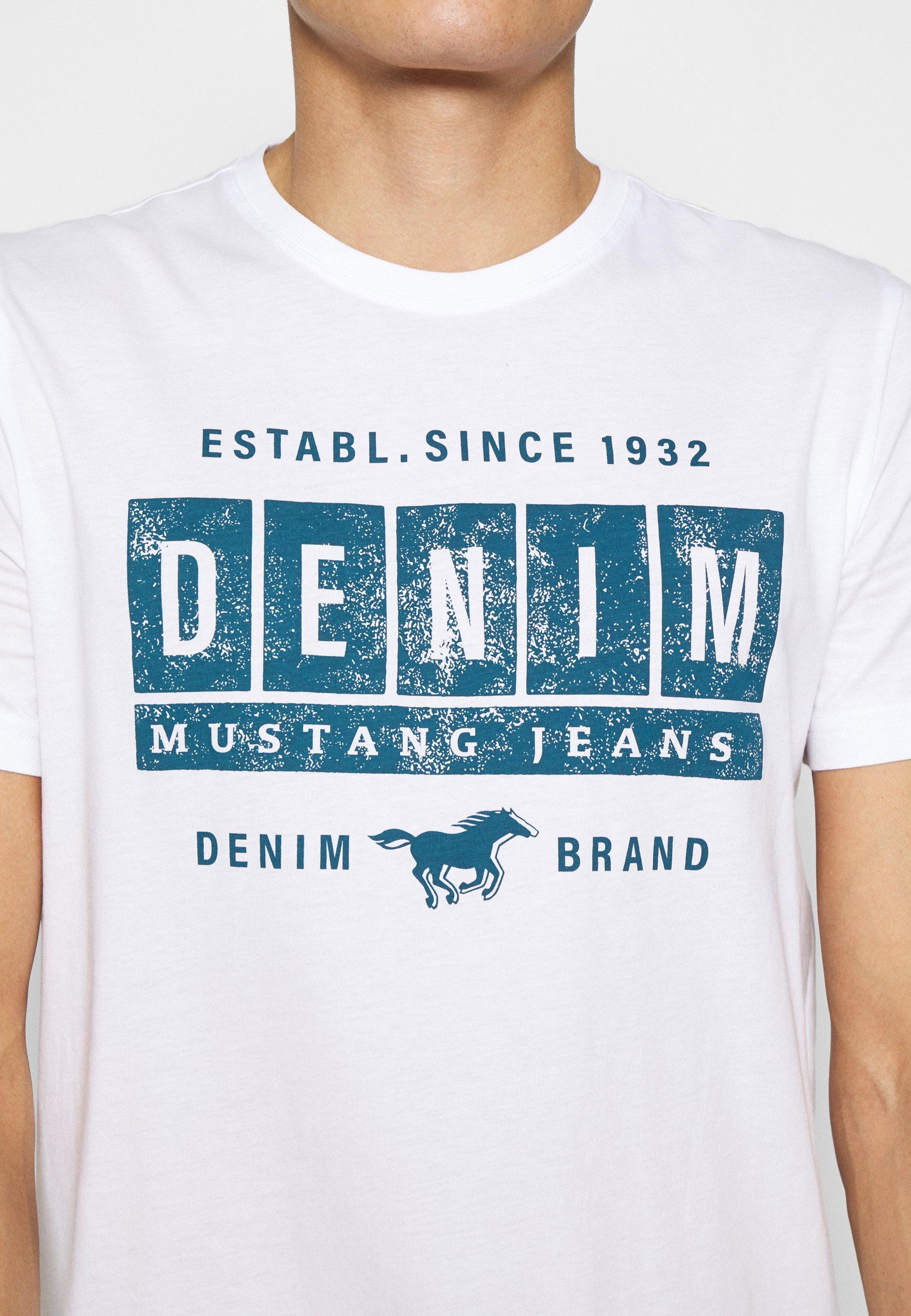 Mustang ALEX - Print T-shirt - white 0beL6