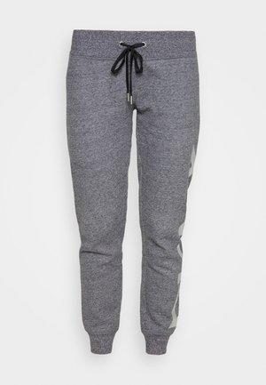 EXPLODED LOGO - Teplákové kalhoty - black heahter/silver