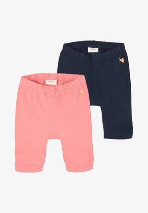 2 PACK - Leggings - Trousers - pink/navy