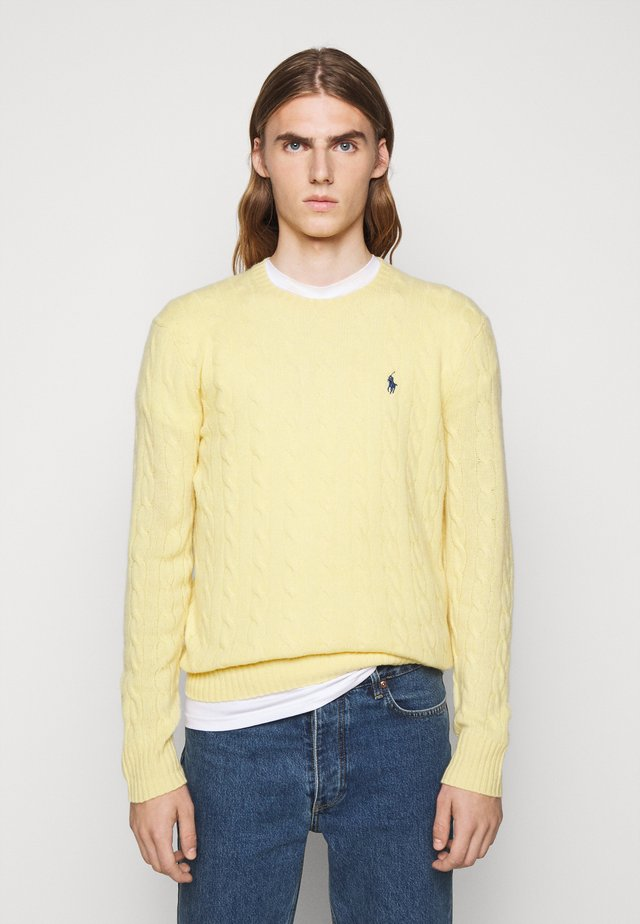 CABLE  - Strickpullover - empire yellow