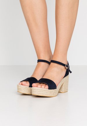 ANGELIS - High heeled sandals - navy blue
