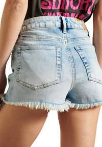 Superdry - HOT - Denim shorts - embroidery and repair - 1