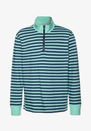 RUGBY HALF ZIP - Long sleeved top - aqua blue