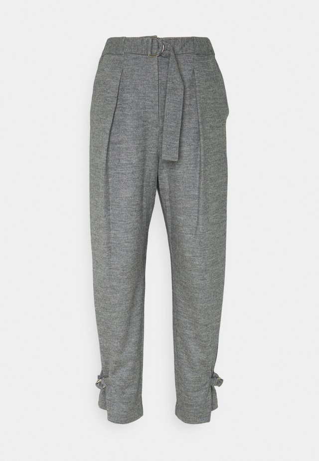 CINCHED TROUSER - Trousers - grey