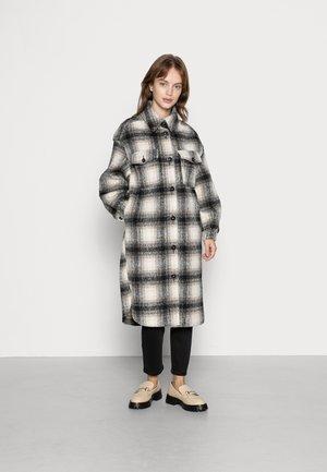 ONLLOU LONG SHACKET - Classic coat - pumice stone/black