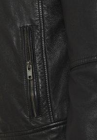 Oakwood - FREDERIC - Kožená bunda - noir - 6