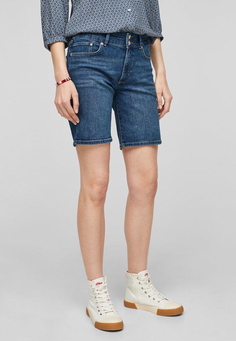 s.Oliver - Denim shorts - medium blue