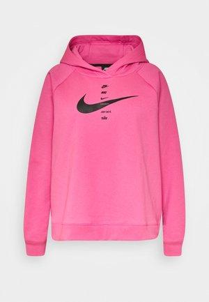 HOODIE  - Hættetrøjer - pink glow/black