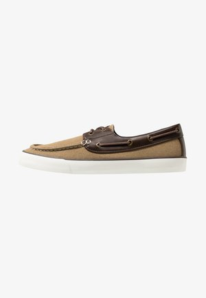 GREENLING - Boat shoes - beige