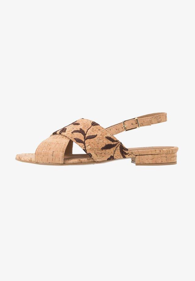 KAJAM - Sandaalit nilkkaremmillä - beige