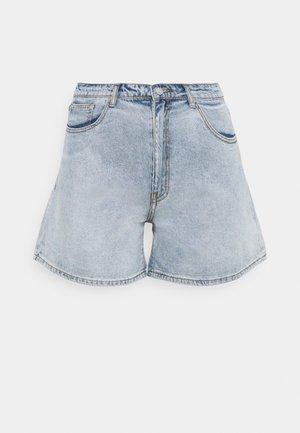 PLUS SIZE MOM - Denim shorts - blue