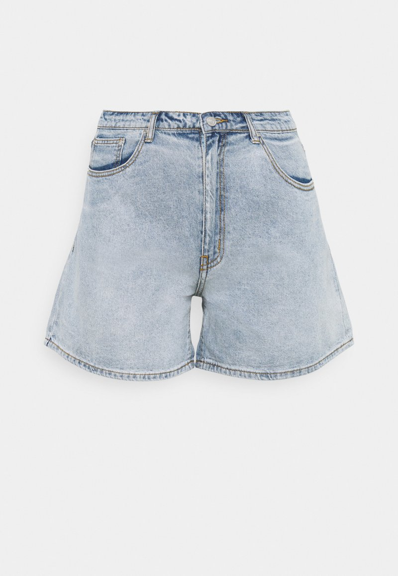 Missguided Plus - PLUS SIZE MOM - Shorts di jeans - blue