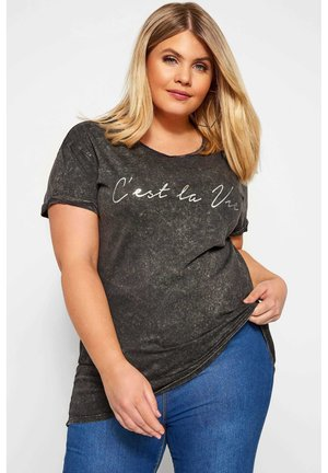 'C'EST LA VIE' - Print T-shirt - grey