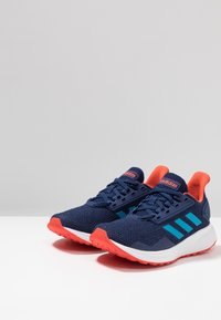 adidas Performance - DURAMO 9 - Laufschuh Neutral - dark blue/shock cyan/active orange - 3