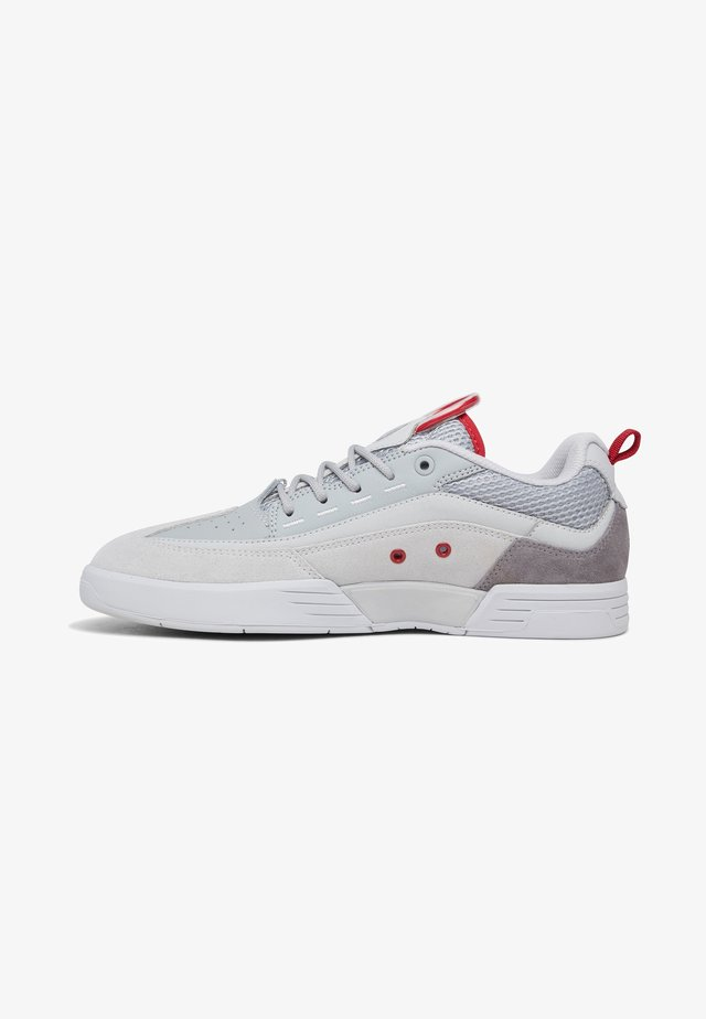 Trainers - grey/dark red