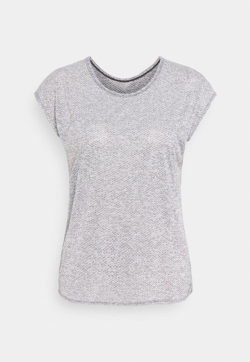 Salomon - SHORT SLEEVE TECH TEE  - T-shirt con stampa - black