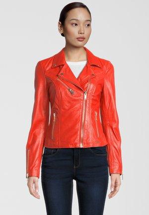 Leather jacket - flame