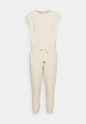 FRENCH TERRY - Overall / Jumpsuit /Buksedragter - almond amaretto