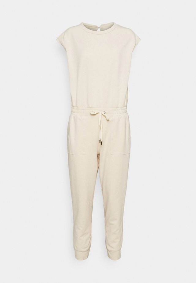 FRENCH TERRY - Tuta jumpsuit - almond amaretto
