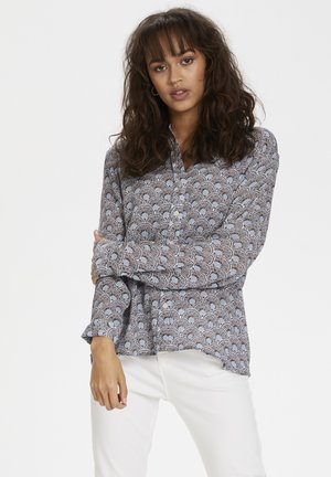 KAFFE KAADRIA PPP SHIRT - Blouse - chalk blue fan