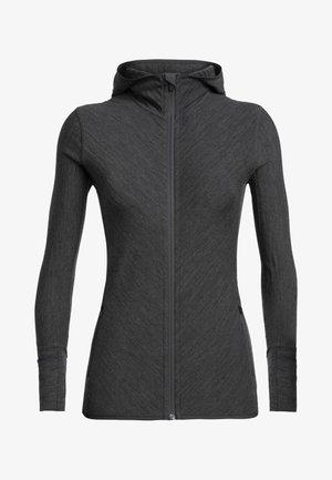 Zip-up sweatshirt - jet hthr