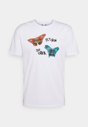 FLY NOW - Print T-shirt - white