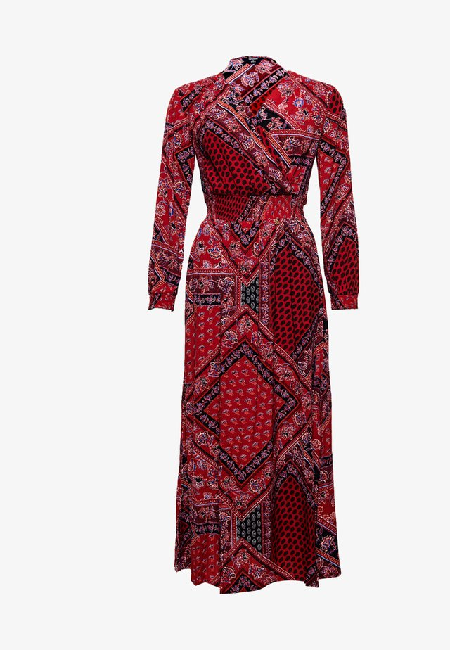 NIKKI  - Day dress - red paisley scarf