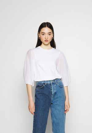 POET TEE - Long sleeved top - white