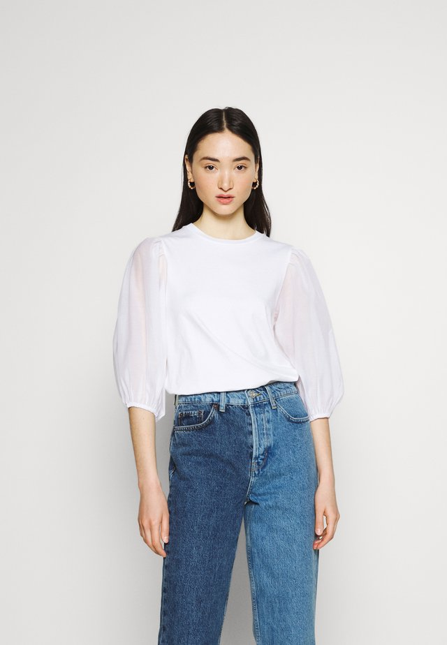 POET TEE - Long sleeved top - white