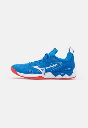 WAVE LUMINOUS 2 - Volleybalschoenen - french blue/white/ignition red