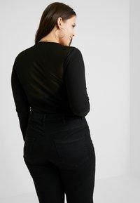 Even&Odd Curvy - Long sleeved top - black - 2