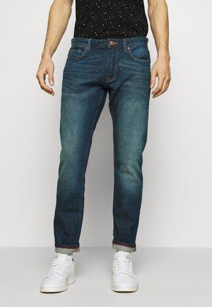 HOSE LANG - Straight leg jeans - stone blue denim