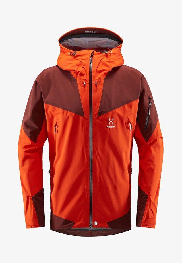 ROC SPIRE JACKET - Waterproof jacket - habanero/maroon red