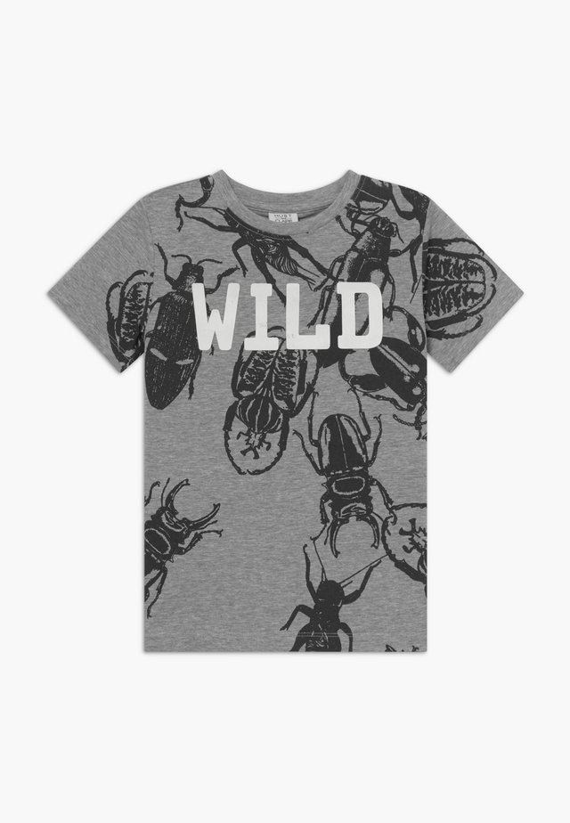 ALWIN - Camiseta estampada - pearl grey