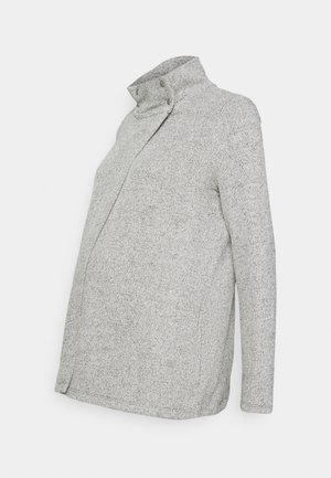 SNAP LAYERING - Chaqueta de punto - light heather grey