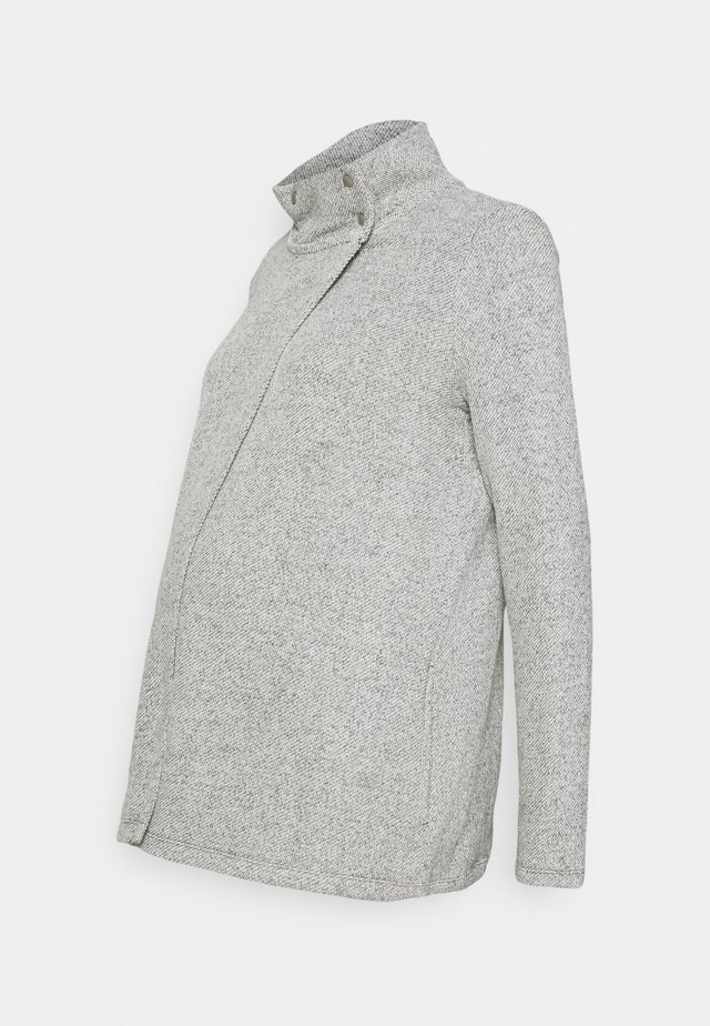 SNAP LAYERING - Strikjakke /Cardigans - light heather grey