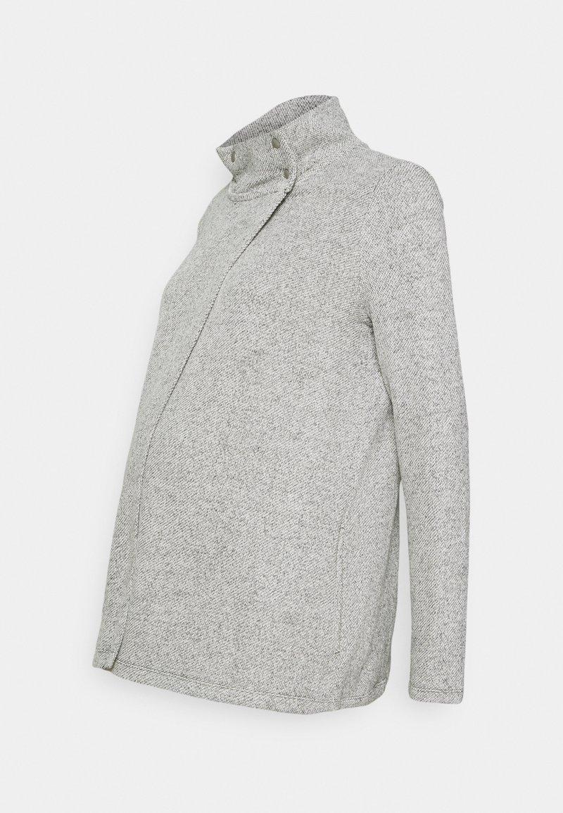 GAP Maternity - SNAP LAYERING - Chaqueta de punto - light heather grey
