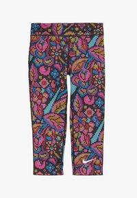 Nike Performance - ALL IN CAPRI FEMME - 3/4 sports trousers - black/white - 2