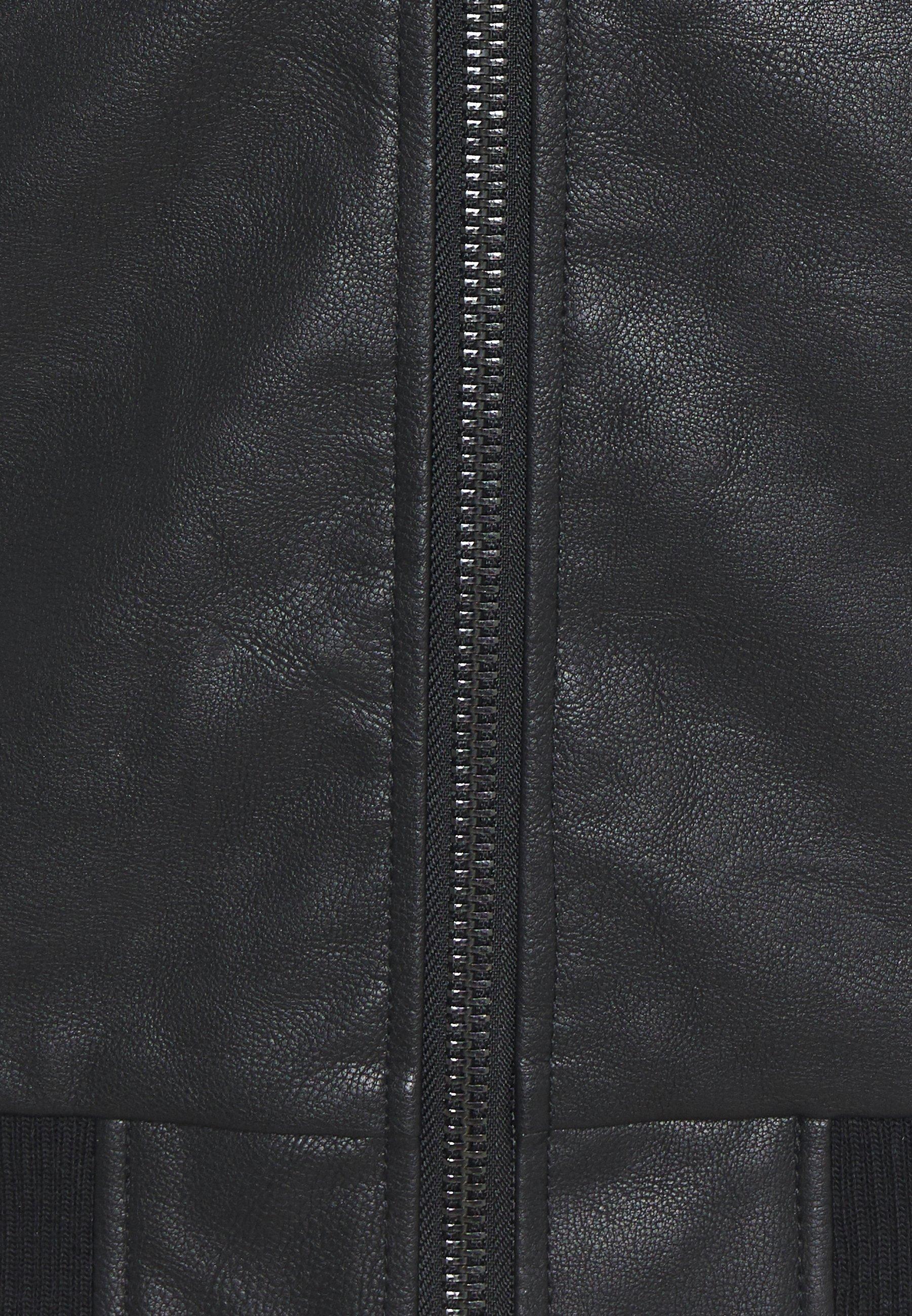 Redefined Rebel RAFAEL JACKET Imitert skinnjakke black