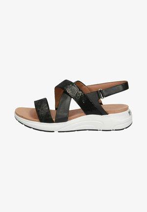 Platform sandals - black comb