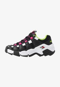 Tommy Jeans - JAWZ  - Sneakersy niskie - black/white/green gecko/pink glow - 1