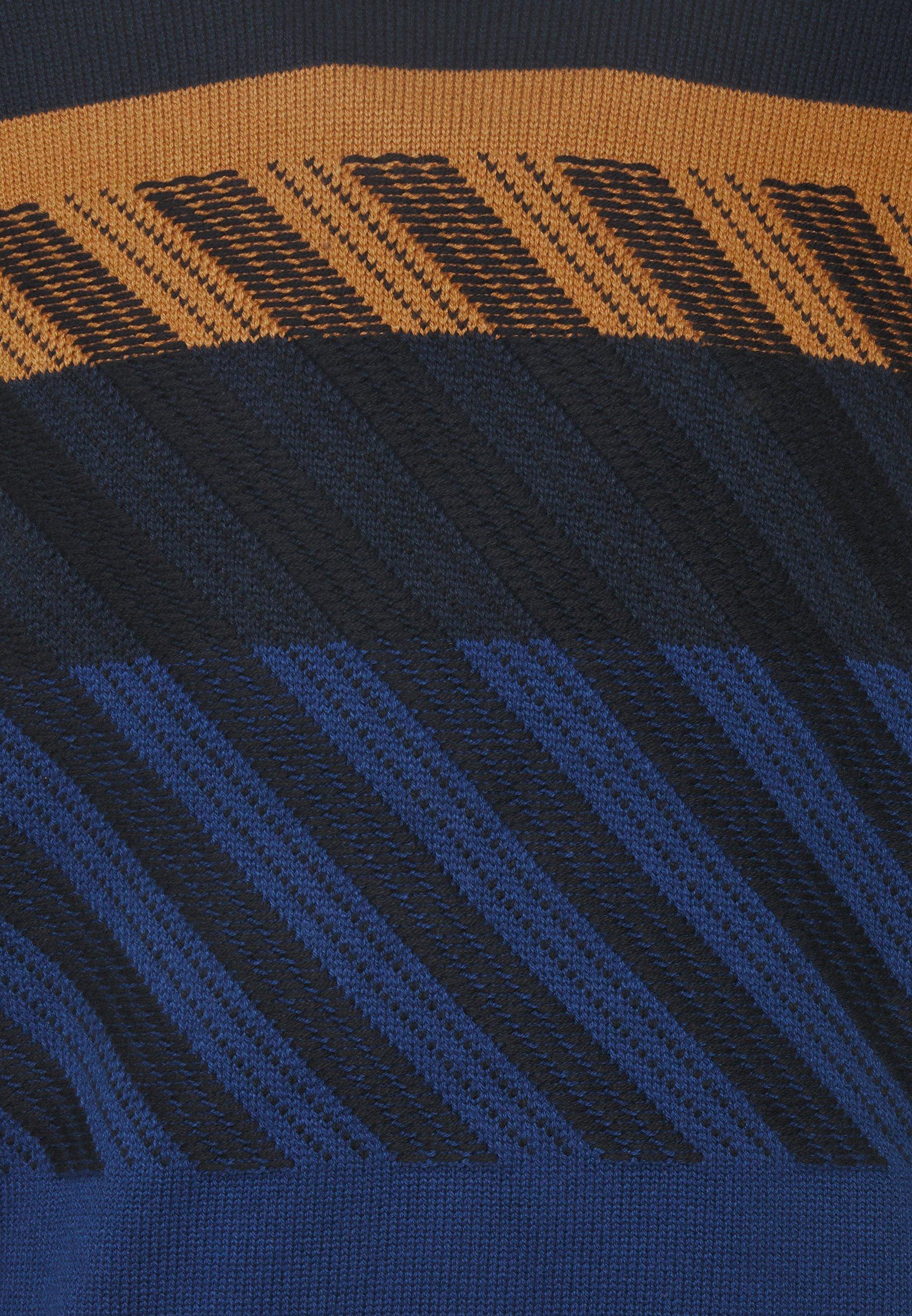 Ps Paul Smith Mens Crew Neck - Strickpullover Dark Blue/orange