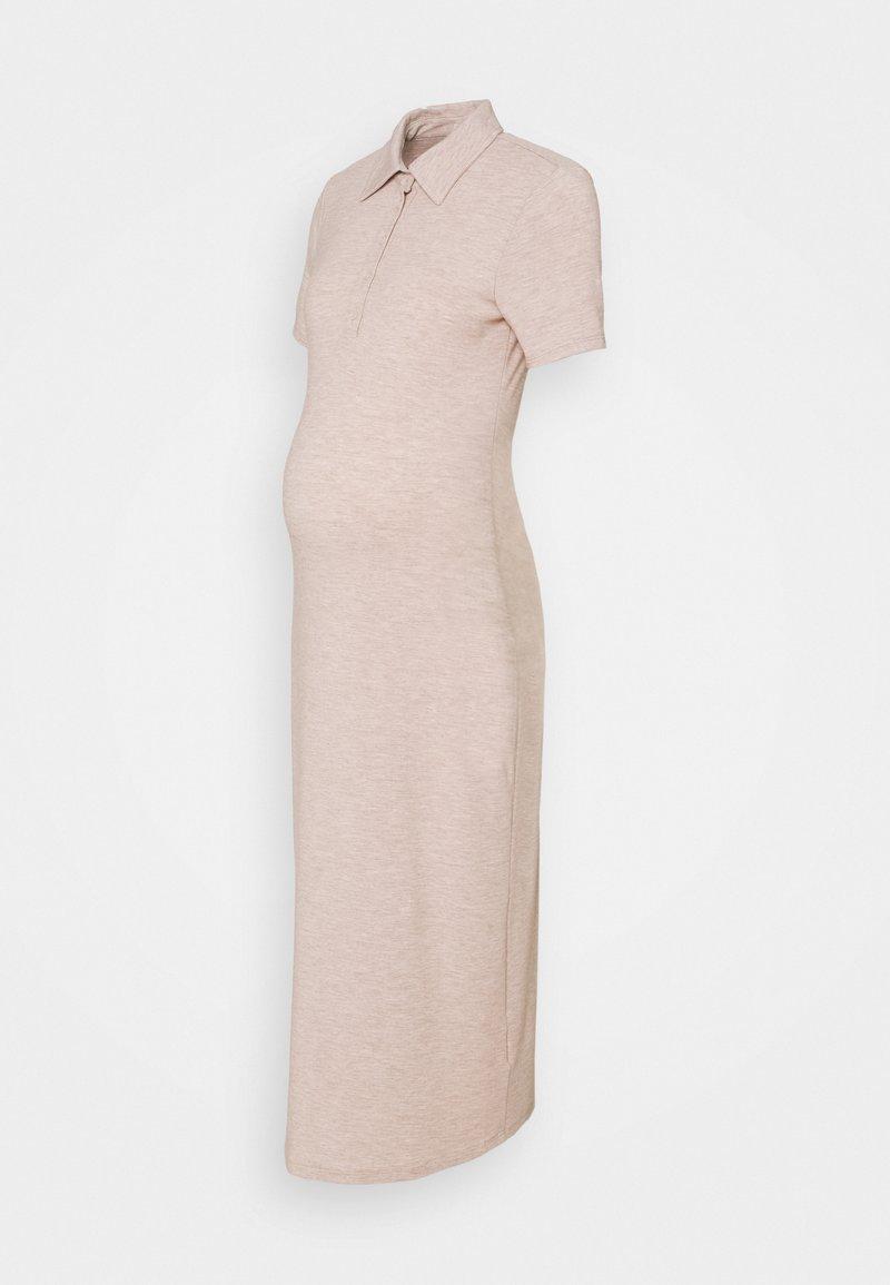 Glamorous Bloom - MIDI DRESS WITH SLIM FIT SLEEVES OPEN PLACKET COLLAR  - Maxi dress - light beige
