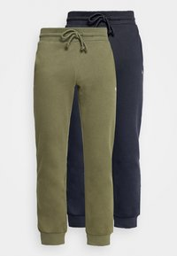 Jack & Jones - JJISIMONE 2-PACK - Tracksuit bottoms - navy blazer/khaki - 0