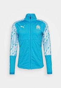 Puma - OLYMPIQUE MARSAILLE STADIUM JACKET - Club wear - bleu azur/puma white - 5