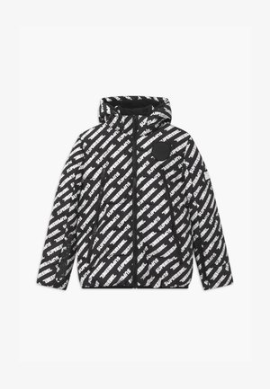 SUSTAINABLE BASIC SHINY BOYS  - Snowboard jacket - text black/white