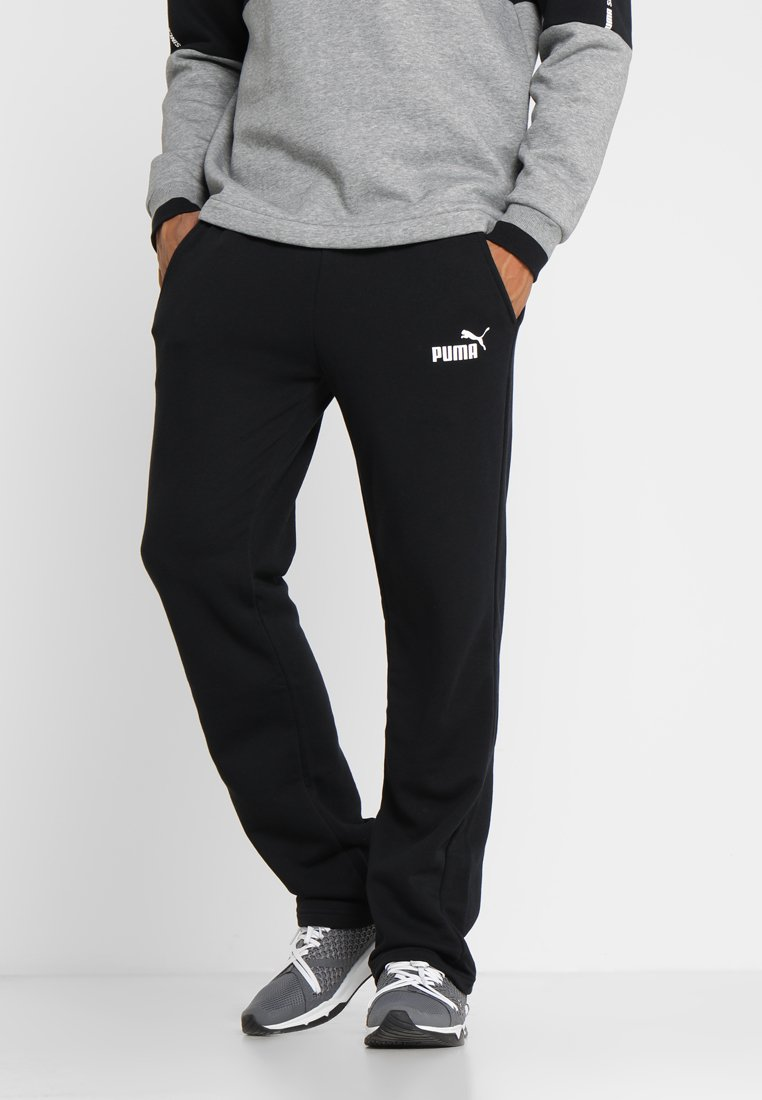 Puma - ESS LOGO PANTS  - Tracksuit bottoms - puma black