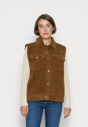 SLFJANY TEDDY VEST - Waistcoat - rubber